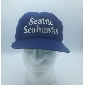 Vintage Seattle Seahawks Mesh Foam Trucker Cap